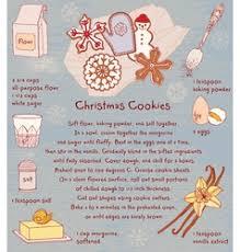 Christmas Recipe Card Christmas Cookies Recipe Card Royalty Free Vector Image