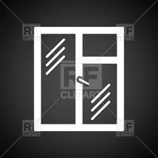 closed window clipart. icon of closed window frame, 176067, download royalty-free vector image clipart