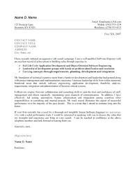 Cover Letter For Experienced Software Engineer Example Of Cover Letter For It Job Application Software Engineer