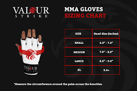 Mma Gloves Size Chart How To Size Mma Gloves