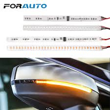 Car Turn Signal Lights Us 6 4 25 Off Forauto 1 Pair Auto Rearview Mirror Indicator Lamp Car Turn Signal Light Flowing Streamer Strip Moto Water Turn Signal Light In Signal
