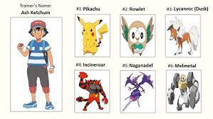 Ash's Alola Pokemon Team by WillDinoMaster55 on DeviantArt