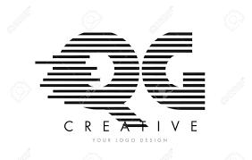 QG Q G Zebra Letter Logo Design with Black and White Stripes Vector Stock  Vector - 76222473