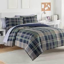 green plaid comforter. Unique Plaid Seattle 100 Cotton Comforter Set Throughout Green Plaid E