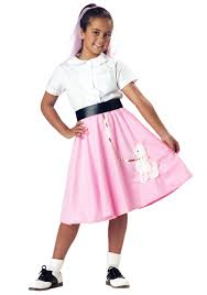 Teen pink poodle skirts