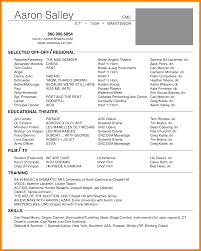 7 Tech Theatre Resume Letter Setup