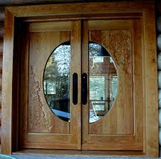 fabulous double front doors for homes featuring with light oak and round glass double front