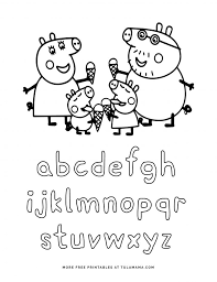 These are short, unpretentious and humorous stories and adventures of a family of piglets. Free Printable Peppa Pig Abc Coloring Pages For Preschoolers Tulamama