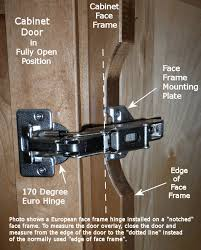 cabinet hinges installed. Measuring Your Overlay On A Notched Frame Cabinet Cabinet Hinges Installed I