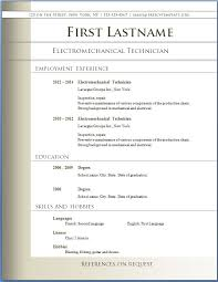 Resume Templates Pdf Free Example Download Cv Template Format In
