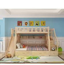 Sfruttare gli spazi in casa per inserire un letto andando anche in verticale nella gestione dell'ambiente. Szint Ov Egyenlo Letti A Castello In Legno Naturale Amazon Floriophotography Com