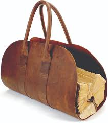 itasca leathergoods firewood carrier