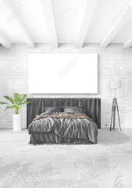Weißes Schlafzimmer Minimalistischer Stil Innenarchitektur Mit