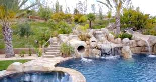 inground pools with waterfalls and slides. Pools With Waterfalls Check Out This Amazing Premier Pool Waterfall Inground Slide . And Slides