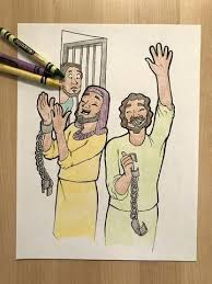 Free Bible Characters Coloring Pages Ministry Deals Paul And Silas