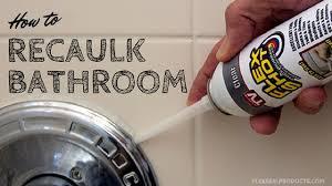 view larger image caulk your bathroom with flex shot in three easy steps flex shot