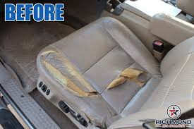 2002 2003 ford f 350 lariat perforated leather seat cover driver bottom gray