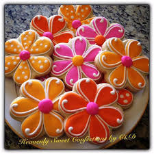 decorated flower sugar cookies. Simple Decorated Spring Flower Sugar Cookies On Decorated O