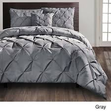 gray bedspread king.  Gray Grey Bedding Sets King  Carmen Gray Pintuck Modern King Comforter Set 4 PC  Bedding EBay On Bedspread