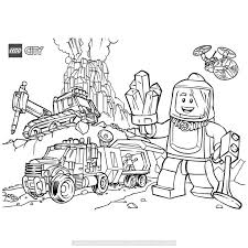 Lego City Vulkaan Kleurplaat Lego Coloring Pages Lego Coloring