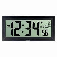 wall clock atomic digital wall clock la crosse technology atomic