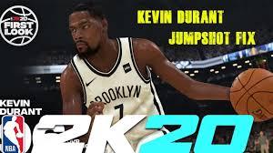 Kevin Durant Jumpshot Fix NBA 2k20 ...