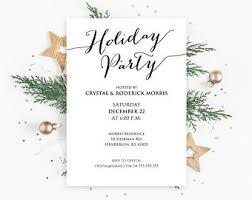 Christmas Dinner Invitation Templates Holiday Party Invitations Templates Magdalene Project Org