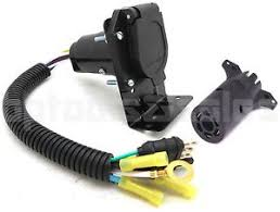 4 flat to 7 way rv trailer light plug wire harness amp 7 way image is loading 4 flat to 7 way rv trailer light