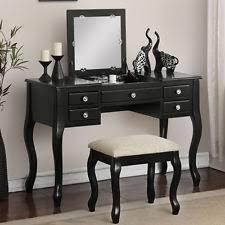black makeup vanity with drawers. elegant bedroom makeup vanity table flip up mirror drawers queen anne leg black with