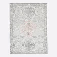 distressed medallion rug platinum pink blush west elm