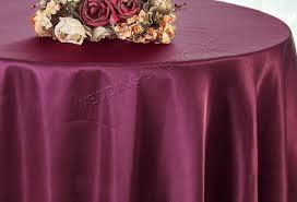 120 round satin tablecloth sangria 55866 1pc pk