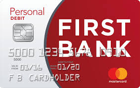 big or small the first bank debit card does it all