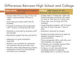 College Vs High School Essay Compare And Contrast