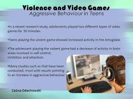 Violence in video games affect teens