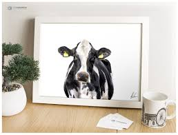 cow gifts cow painting cow art friesian farm s dairy