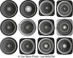 speakers artwork. vector - speakers artwork