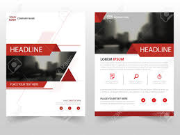 red triangle vector annual report leaflet brochure flyer template design book cover layout design