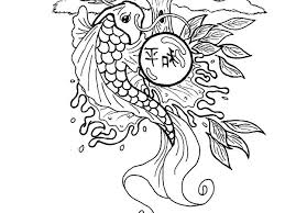 Small Picture Chinese New Year Koi Fish Coloring Pages Download Print Online