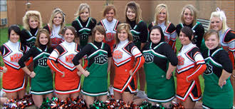 walnut ridge and hoxie cheerleaders who pared in a joint event at lawrence hall nursing center were front from left taylor wagoner shayla sisco