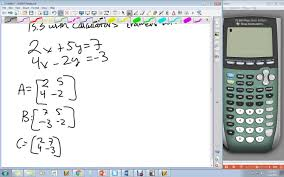 cramer s rule 2x2 on calculator