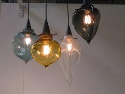 Kitchen Glass Pendant Lighting Hand Blown Glass Pendant Light Shades Roselawnlutheran