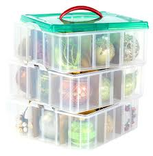 Real Simple Holiday 112Count Ornament Storage Box  Bed Bath Christmas Ornament Storage