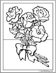Free printable roses coloring pages for kids. 73 Rose Coloring Pages Customize Pdf Printables