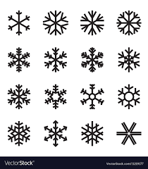 Simple Snowflake Icons Royalty Free Vector Image