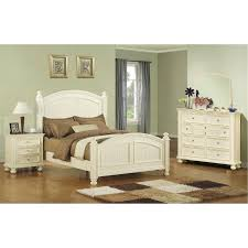 White King Bedroom Sets Ii Wood Panel Bed In White Gardner White ...
