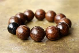 mens brown bracelet very large wooden bead bracelet minimal mens fashion jewelry hipster style natural sandalwood big bead masculine style pillow book