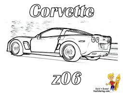 Free Printout Corvette Z06 Rear View