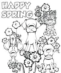 Spring Break Coloring Pages New Spring Printable Coloring Pages