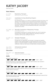Respiratory Therapist Cv Examples New Respiratory Therapist Resume