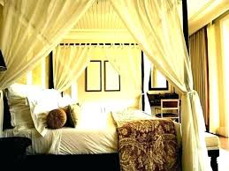 Canopy Drapes Curtains King Size Bed With Curtain Delightful Stylish ...